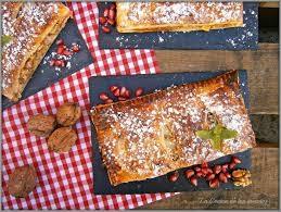 receta Pastel rápido de Hojaldre con Membrillo, Queso y Nueces de California