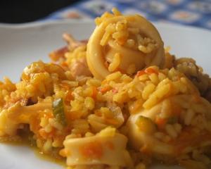 receta arroz con calamares