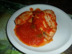 receta atún con tomate