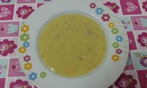 receta Crema de patatas con salmón ahumado