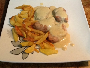 receta Solomillo de cerdo al queso azul