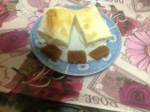 receta pastel de queso fresco con mermelada de manzana