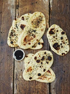 receta Pan naan de Jamie Oliver